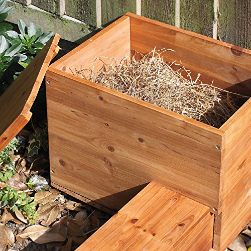 The house could also have been better with divided rooms than just a vast interior. That aside, this delightful wooden hedgehog house is a magnificent addition to any hedgehog-friendly garden.