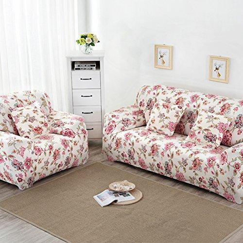 BESTVECH Printed Cloth Art Spandex Stretch Slipcover Sofa Cover (1#)(3 Seats)