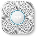 Nest Protect 2ème génération, détecteur de fumée et monoxyde de carbone, (à Piles)