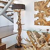 Hochwertige Stand-lampe BLUMA | Designer Stehlampe Teakholz mit Holz-Zertifikat