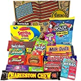 American Candy Box Hamper | American Sweets and Chocolate Bar Gift Box Selection | Reeses, Baby Ruth, Nerds, Jolly Rancher | Value Pack 18 Items in Retro Sweets Gift Box