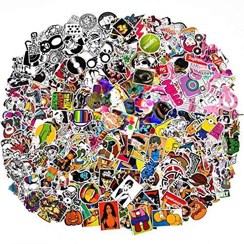 323 Pcs Laptop Aufkleber Niedlich Cool Flash Schwarz Und Weiß Aufkleber Für Auto Stoßstange Motorrad Fahrrad Gepäck Aufkleber Graffiti Patches