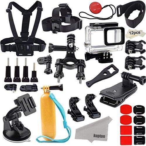 Kupton Accessori Kit per GoPro Hero7/(2018) 6/5 Action Camcorder Accessori per Fotocamere Supporto Impermeabile Case Cintura Cinghia Bicicletta Auto Zaino Clip per Go Pro Hero7/(2018)6/5