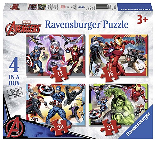 Ravensburger Italy Marvel Avengers Puzzle 4 in 1, 06942
