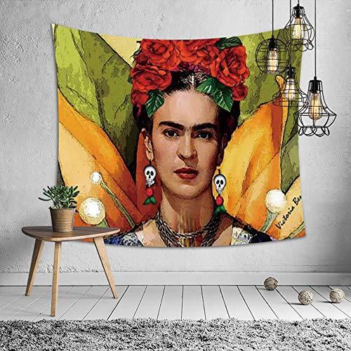 Tecnolygy Tapiz de Arte, Tapices de Pared para Frida Kahlo, Mantas de Poliéster de Colores, Tamaños,GreenD,39.4in*28in