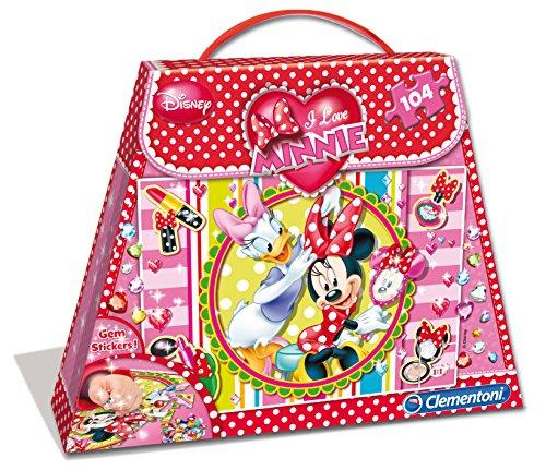 Clementoni 20401 - Puzzle Shopping Bag Minnie 1, 104 Pezzi