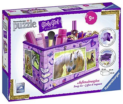 Ravensburger Italy Puzzle 3D Portaoggetti Cavalli Scatola Decorativa per Cameretta, 216 Pezzi,...