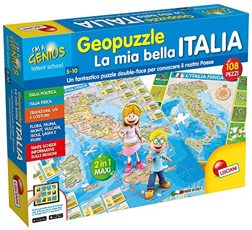 Liscianigiochi 43873 - Piccolo Genio Geopuzzle, La Mia Bella Italia