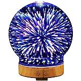 Diffuser mit Abschaltautomatik, 100ml 3D Glas LED mit 16 Farben Luftbefeuchter, Oil Düfte Humidifier für Haus, Büro, Fitnessraum, Yoga, Kinderzimmer, Hotel (3)