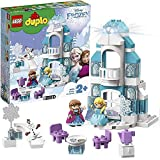 LEGO Duplo Princess Il Castello di Ghiaccio di Frozen, Unisciti ad Elsa Anna ed Olaf, Un Mattoncino Luminoso Consente di Illuminare con Tanti Colori, Set di Costruzioni per Bambini dai 2 Anni, 10899
