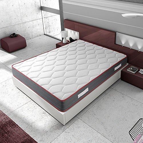 Matelas Ergo-Therapy 90X190 à mémoire de forme | 18 cm Épaisseur | 2 cm de mousse à mémoire de forme de 65 kg/m3 | Foam AirSistem | Extrêmement durable | Certification ISO 9001