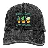 Gorra Cactus Ajustable Negra De Plantas Suculentas
