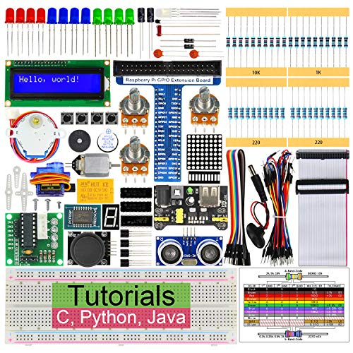 Freenove Ultrasonic Starter Kit for Raspberry Pi 3 B+, 358 Pages Detailed Tutorials, Python C Java, 171 Items, 47 Projects, RPi 3B+ 3B 3A+ 2B 1B+ 1A+ Zero W