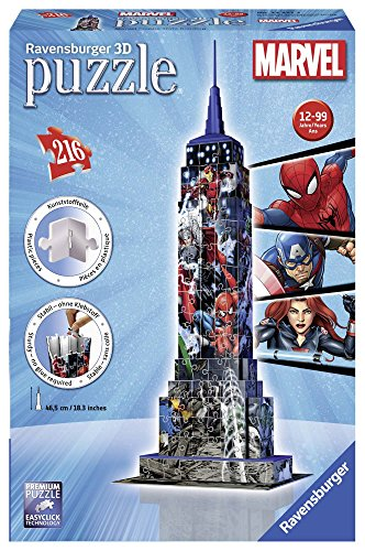 Ravensburger Italy Puzzle 3D Empire State Building Avengers, 12517 3