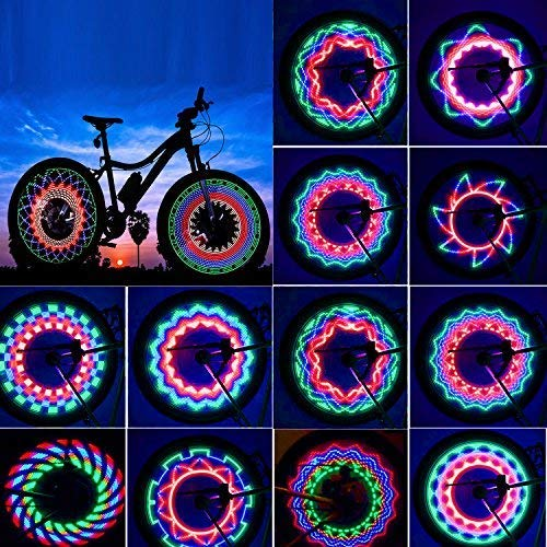 Bicicletta LED Impermeabile Luci per Raggi della Ruota,LED Luce con 32 LED Ultra Luminosi 32 Modello...