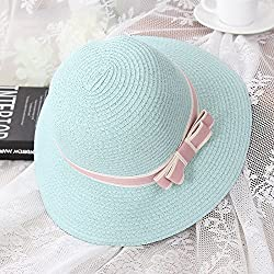 The Summer Vacation Travel Hat Lady All-Match Fisherman Hat Outdoor Beach Sun Hat Beach Hat,The Butterfly Knot - Green,Adult Section