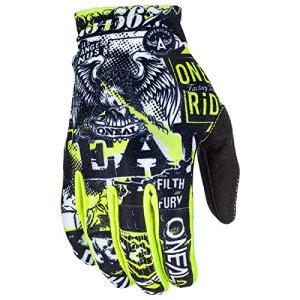 O'Neal Matrix Kinder Handschuhe Attack Neon Gelb Hi-Viz MX MTB DH Motocross Enduro Offroad, 0388R-0 6