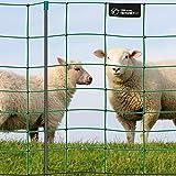 VOSS.farming Premium Elektronetz 90cm farmNET 50m Schafzaun Ziegennetz 14 Pfähle 1 Spitze grün
