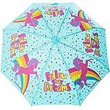 Cadeau Fille -Parapluie Enfant Fille, Parapluie Qui Change De Couleur Sous La Pluie, Motif Licornes. Parapluie Pliant Et Magique, 4 5 6 7 8 9 10 11 Ans