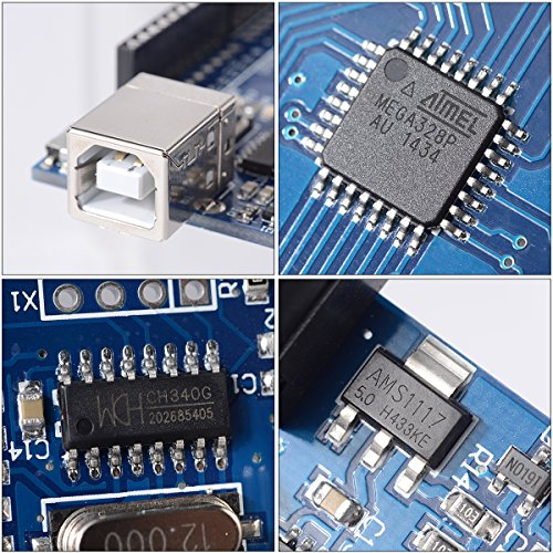 61TS2HkQ4XL - XCSOURCE® Tablero UNO R3 Rev3 Desarrollo ATmega328P CH340G AVR Compatible Arduino + Cable para Arduino Hum TE113