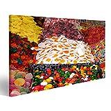 islandburner Bild auf Leinwand Mehrfarbige Süßigkeiten auf dem Basar in Tel Aviv, Israel Wandbild, Poster, Leinwandbild FKQ