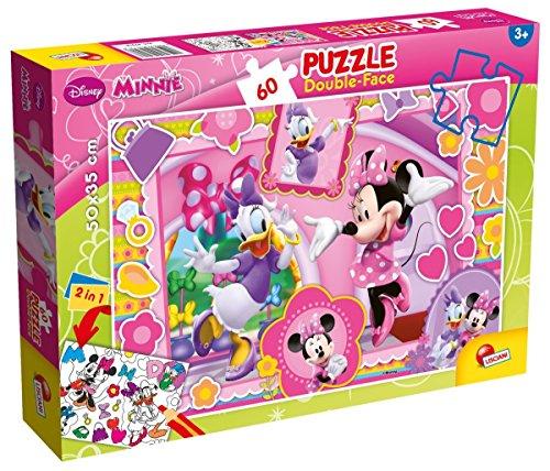 Lisciani Giochi 47918 - Minnie Puzzle Doppia Faccia Plus, 60 Pezzi
