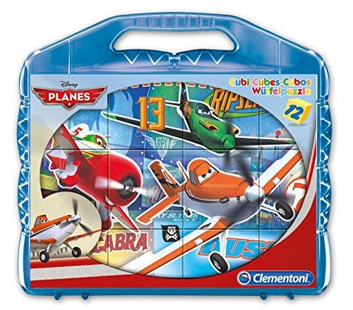 Clementoni - 41172 - Valigetta con Cubi Planes, 12 Pezzi
