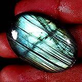 68.35CTS. 100% naturale raro lampeggiante labradorite ovale cabochon sciolto pietre preziose