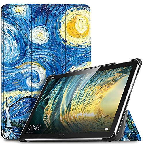 IVSO Custodia Cover per Huawei Mediapad M5 Lite 10, Slim Smart Protettiva Custodia Cover in Pelle PU...