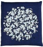 B. Toys Japonés Budista meditación Cushion Cover (Zabuton) Yoza Tibetano círculo Flor 55× cm Azul Marino
