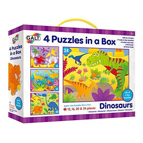 Galt Toys, 4Puzzle in Una Scatola, Dinosauri