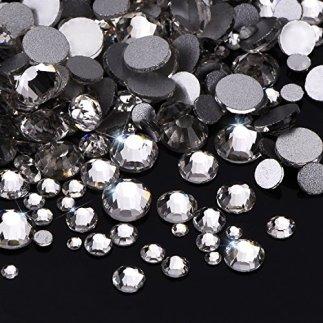 1000-Stck-Klare-Flache-Rckseite-Strasssteine-Runde-Kristall-Edelsteine-15-mm-5-mm-5-Gren