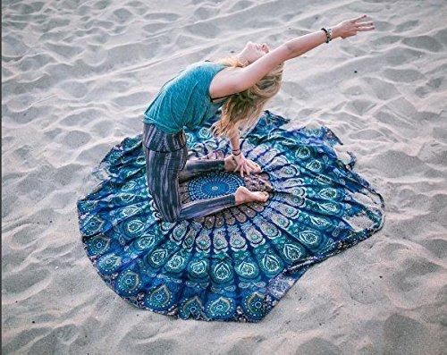 RAJRANG Indiana Mandala Rotonda Roundie Beach Buttare Arazzo Hippy Boho Gypsy Tovaglia in Cotone...