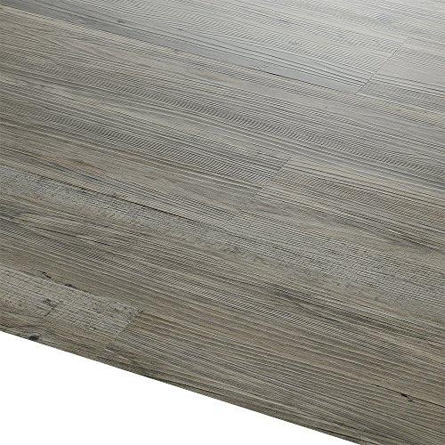 [neu.holz] Laminato vinilico (4m²) Autoadesivo Rovere - grigio (28 tavole = 3,92 m²) Rivestimento...