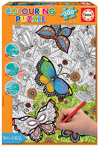 Educa Borrás- Dibujos Animados y cómic 300 All Good Things Are Wild and Free Colouring Puzzle, 85 x 60 cm (17089)