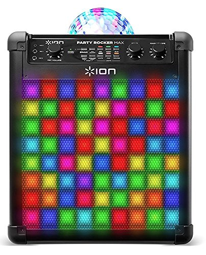 ION Audio Party Rocker Max Altoparlante Portatile Bluetooth da 100 W e Impianto Karaoke, con...