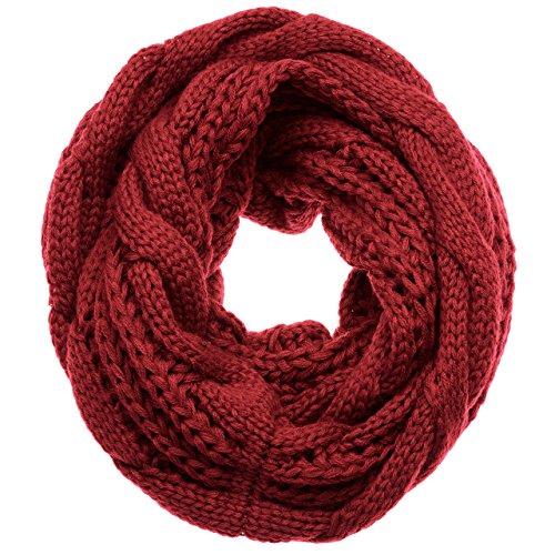 ATMOKO Écharpe Cercle en Tricot à Crochet Twist Foulard Tricoté ... 1c9f27eedbd