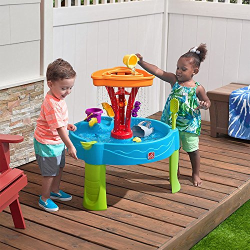 Step2 Summer Seaside Showers Splash Play Water Table with 12 Accessories
