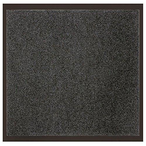 Déco Tapis - 1740298, Tapetto Antipolvere Rettangulo, 80 X 120 Cm, Uni, Tappeto D'Ingresso, Grigio
