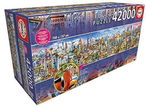 Educa Borras-42000 Around The World Puzzle, Colore Various, 17570