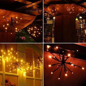 LED Guirlande Lumineuses Globes, 2 Mètres 100 Ampoules,Télécommande Étanche IP65,Décoration à l'intérieur et l'extérieur pour Patio, Café, Jardin,mariage,Fête de Noël,etc.(Blanc Chaud)