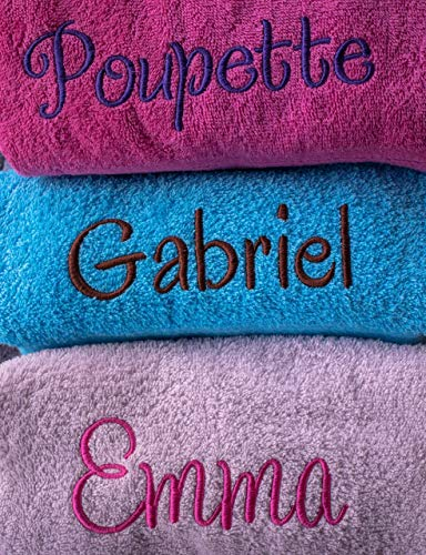 Grand drap de bain personnalisé 500g/m², 100% coton, drap de douche, drap de bain prénom, cadeau personnalisé, cadeau naissance personnalisé... 21