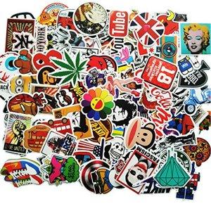 ANKENGS Aufkleber Pack [100-pcs] Graffiti Sticker, Vinyl Stickers, Zufälliger Aufkleber, Vervollkommnen Sie zu Den Laptops, 1