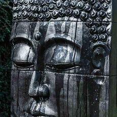 wanda collection Fuente Grande de Exterior Pared de Agua Rostro de Buda 1,80 m