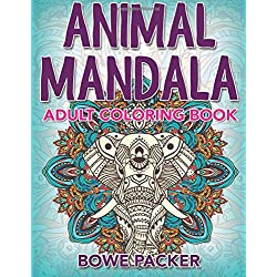Animal Mandala: Adult Coloring Book