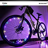 Bodyguard Bike Wheel Lights - Auto Open and Close - Ultra Bright 20 LED Spoke Light,Bicycle Tyre Lights (1 pack) - Waterproof - Colorful