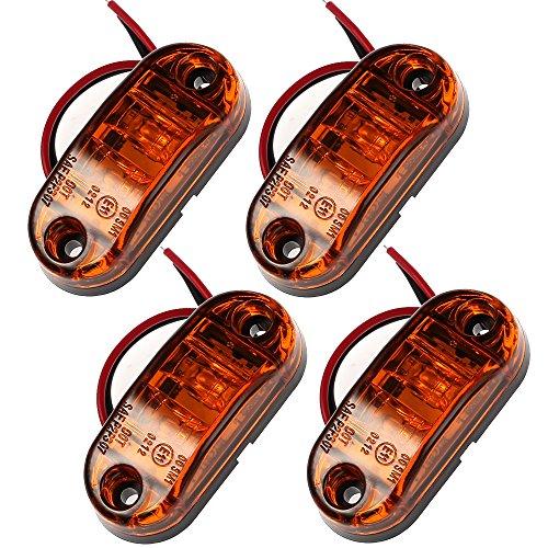 Proster 4 PZ LED Luce Indicatore Anteriore Laterale 12V 24V Lampada Indicatore per Camion Furgone...