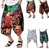 Pantaloni da Uomo Smocked Waist Funky Harem Floreale Styledresser vestibilità larga Harem Pantaloni, great comfort pantaloni da yoga, Hippy 2018