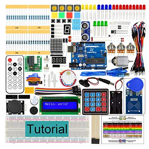 Freenove RFID Starter Kit V2.0 con R3 Bordo (Compatibile con Arduino IDE), Guide Dettagliate di 252 Pagine, 198 Articoli, 49 Progetti, Breadboard di Saldatura Libera