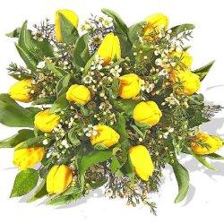 """floristikvergleich.de Blumenstrauß Blumenversand """"Strong Gold"""" +Gratis Grußkarte+Wunschtermin+Frischhaltemittel+Geschenkverpackung"""